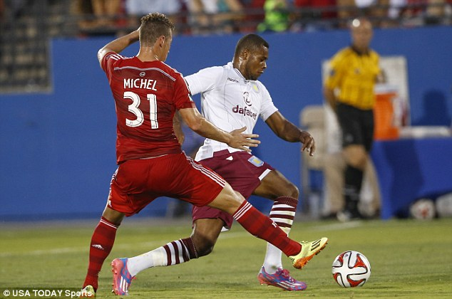 Pacey: Leandro Bacuna takes the ball past FC Dallas defender Michel