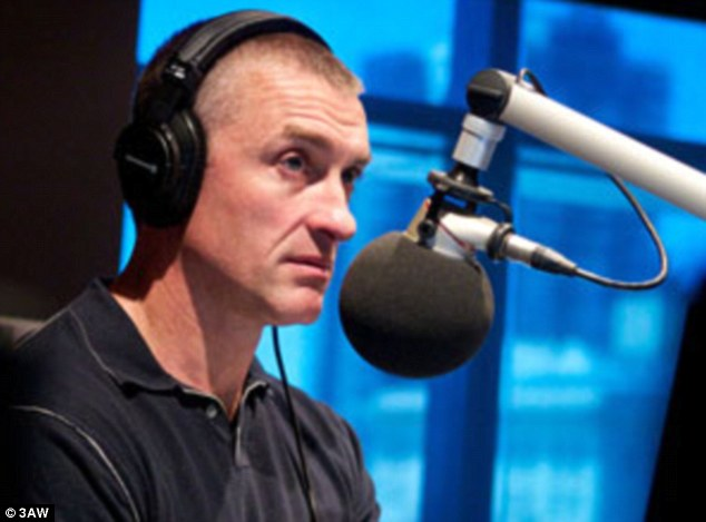 Having his say: 3AW drive time presenter Tom Elliott told his listeners on air that Fifi should 'hang her head in shame' for the behaviour