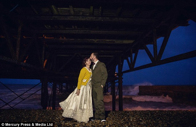 Anna and Tim married last June at the Brighton pier, with Anna in her dream vintage size 12 wedding gown