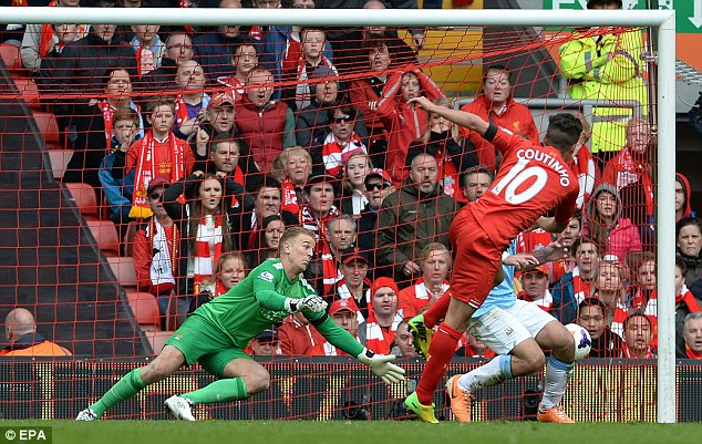 Attacking threat: Coutino (centre) has scored eight goals in 50 appearances for the Reds in all competitions
