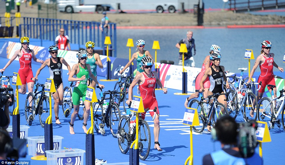 On your bike: Jodie Stimpson was in the leading pack from the outset, and kicked strongly to defeat the field
