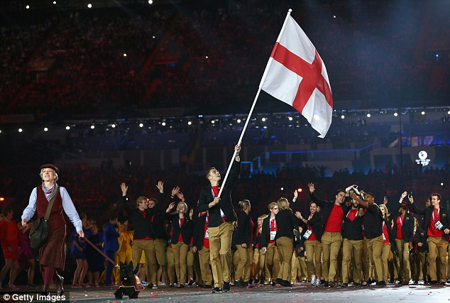 Heavy night? Matthew was Team England's flag bearer at the Opening Cermony at Celtic Park the night before