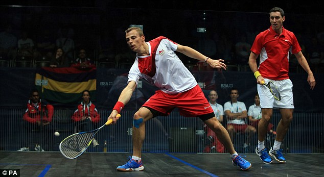 Comfortable: Nick Matthew eased past Mauritius' Xavier Koenig in his first round at the Commonwealth Games