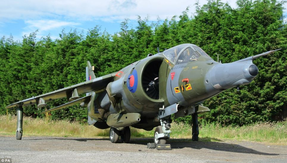 The Harrier, which served during the Cold War in Germany, the Falklands and in Belize, is described as being preserved 'in almost time capsule condition'