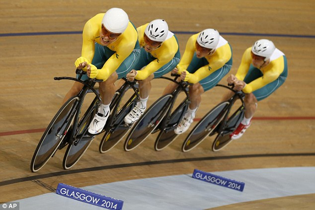 Rapid: The Australian team power their way around the track on their way to a convincing win
