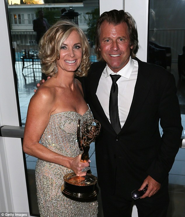 $750,000 newcomer: Eileen and her husband actor Vince Van Patten at the 2014 Daytime Emmy Awards where she won Outstanding Lead Actress