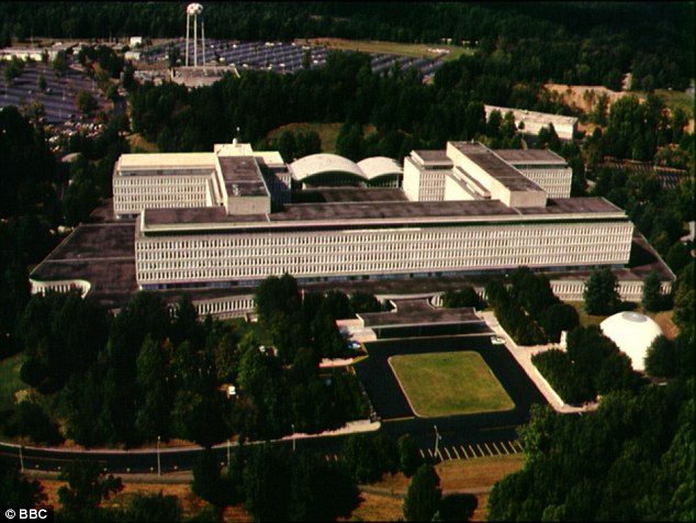 Spying game: The CIA's headquarters in Langley, Virginia, shown during the BBC's Spies R Us series