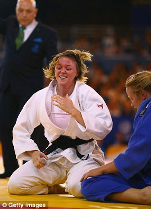 Happy: Fletcher won gold for England at the Commonwealth Games