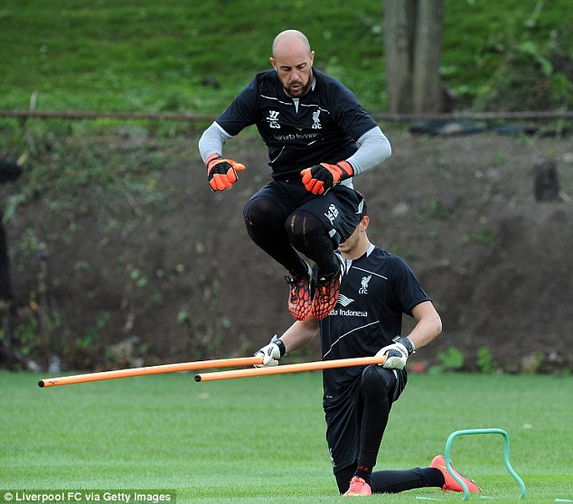 Pepe Reina goes through his paces despite not knowing if he has a future at Liverpool