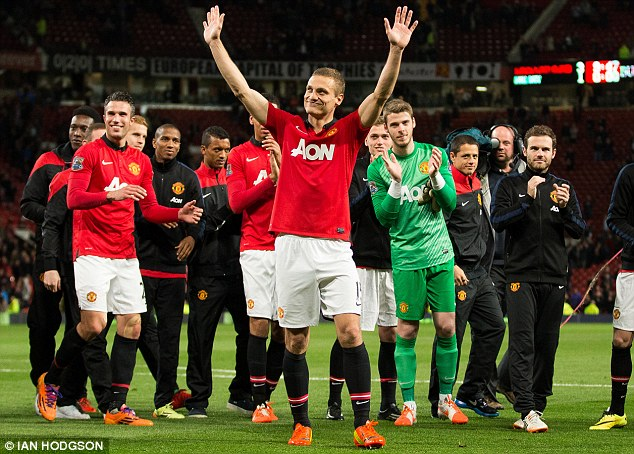 Saying goodbye to Old Trafford: Vidic left in May following eight years at Manchester United