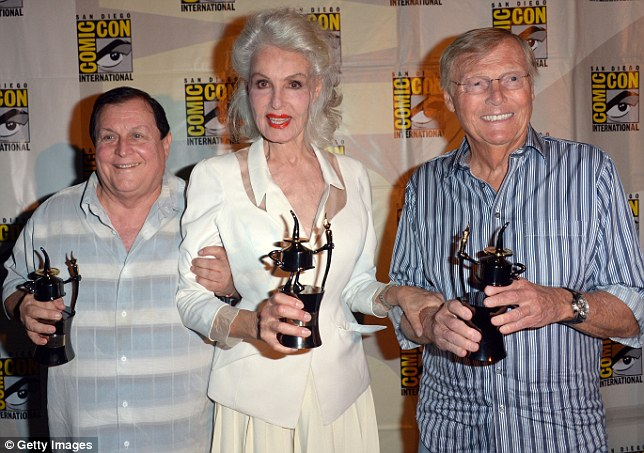 Plaudits: The former co-stars receive Comic-Con International's Inkpot Awards