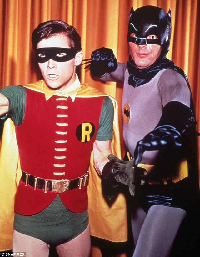 The way we were: Burt, left, and Adam, right, as their iconic characters in the 1960s