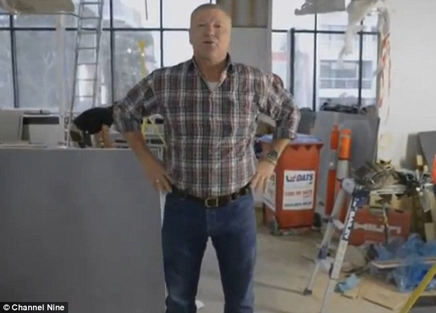 Tricky task: The show's Gold Logie winning host Scott Cam says the renovation is the toughest ask yet