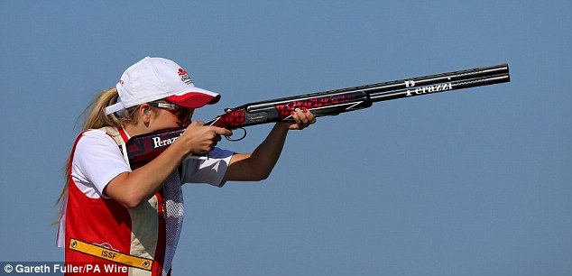 In her sights: Hill was one of England's best medal hopes after winning BBC's Young Sports Personality award