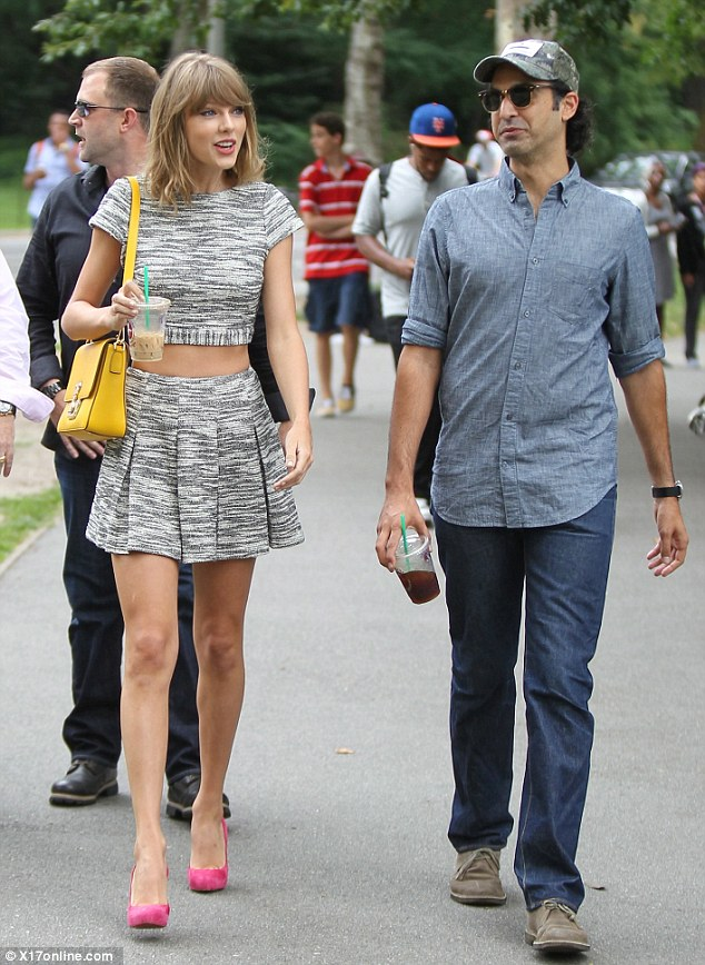 Out and about: Seen here walking through Central Park in New York earlier this month with a male friend