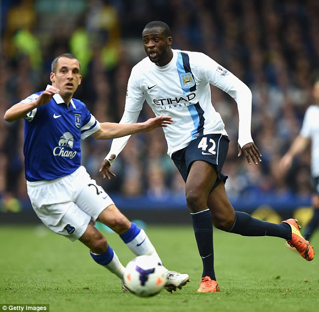 Permanent fixture: Everton midfielder Osman (left) has been at Goodison Park for more than 10 years