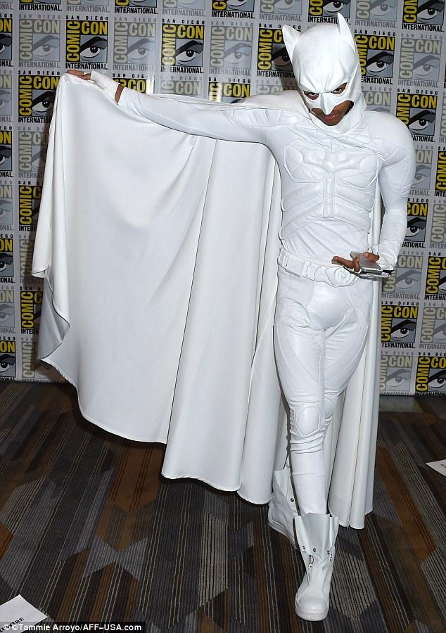 Superhero: Jaden Smith sported a white Batman costume at Comic-Con in San Diego, California  on Friday