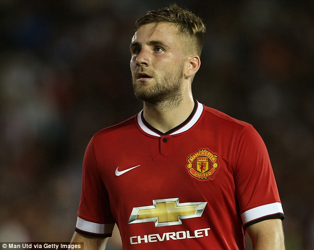 Red Devil: Talented left-back Luke Shaw joined Manchester United from Southampton in a £30million deal