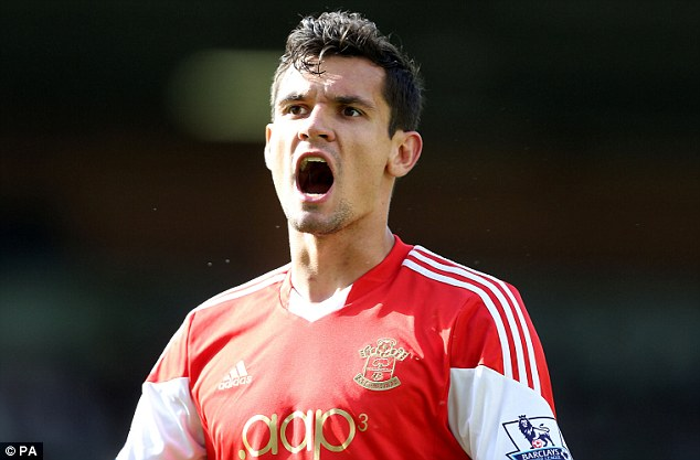 Plenty to shout about: Saints centre-back Dejan Lovren is on the brink of a £20million switch to Liverpool