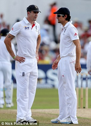 Kevin Pietersen and Alastair Cook in 2013