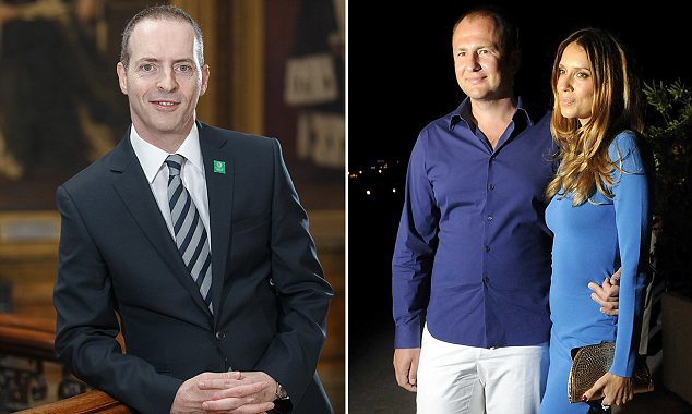 Cold war: Lord Livingston's plans could affect investors such as Andrey Melnichenko and wife Aleksandra Nikolic