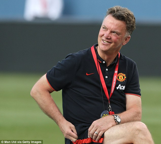 Van's the man: Louis Van Gaal's arrival has given everyone at Manchester United a lift