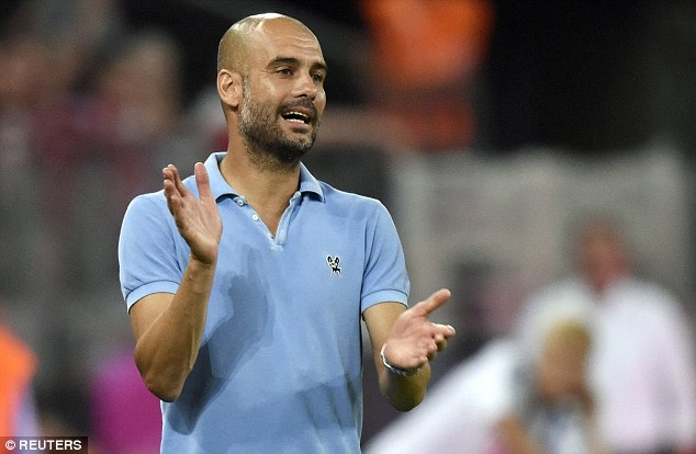 Forever: Bayern Munich chairman Karl-Heinz Rummenigge says the club will 'never' sack boss Pep Guardiola