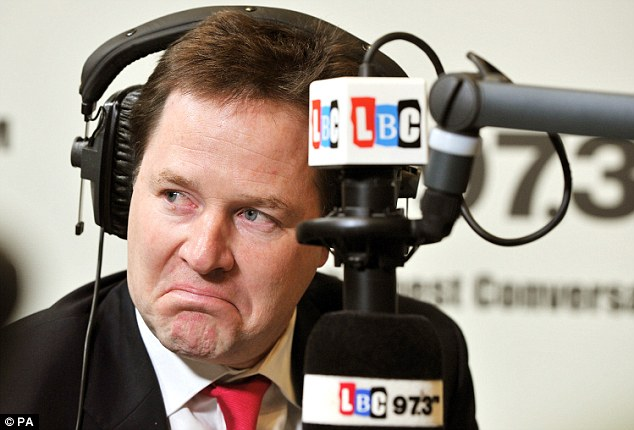 Lib Dem leader Nick Clegg has been taking questions from the public for more than a year on his weekly radio phone-in