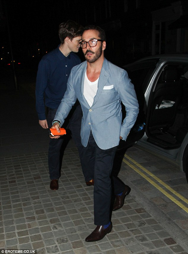 Very suave: Co-star Jeremy Piven, who plays protaginist Mr. Selfridge, was also at the Chiltern Firehouse on Saturday night