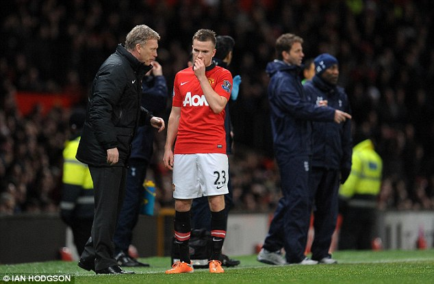 Low point: Cleverley's performances last season epitomised the failings of the Moyes era in the opinion of many United fans