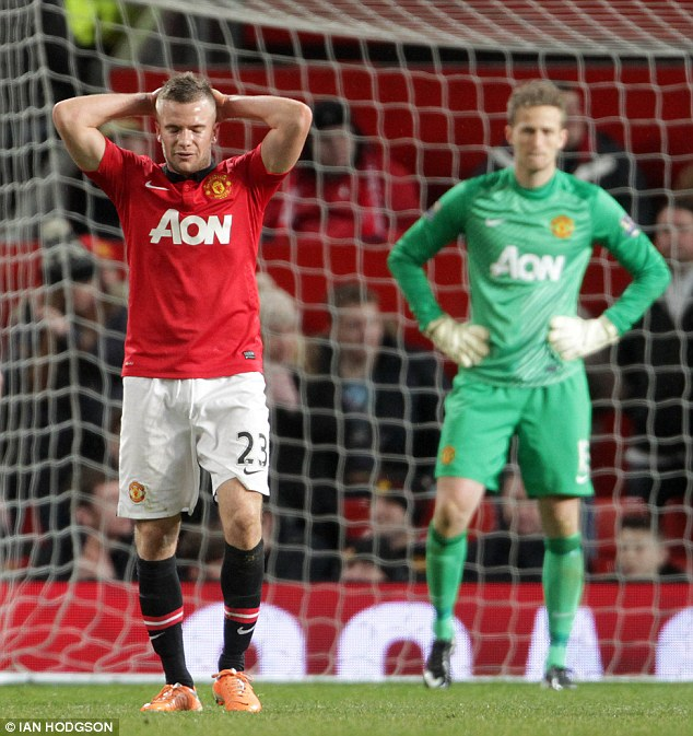 Fall guy: Cleverley was the scapegoat for many of United's poor performances under David Moyes last season