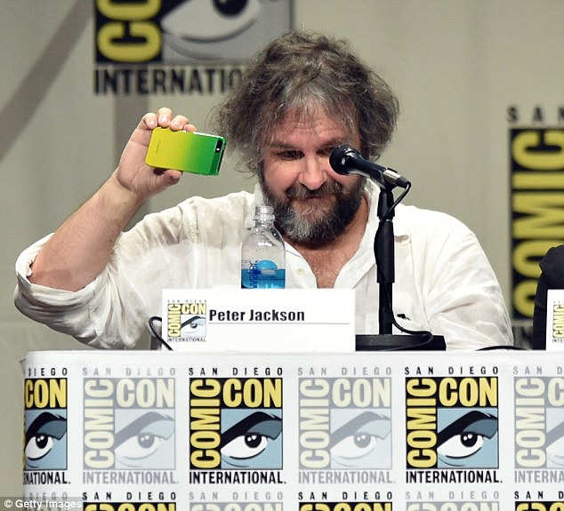 Business first! Peter Jackson led a panel on his upcoming blockbuster The Hobbit: The Battle Of Five Armies