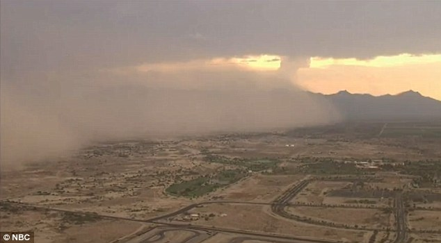 Low visibility: The massive dust storm turned the sky brown over Phoenix on Friday