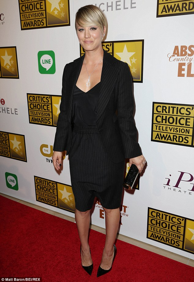 Wife of the year: Kaley, seen at the Critics' Choice Awards on June 19, recently celebrated her husband's 27th birthday with a surprise party