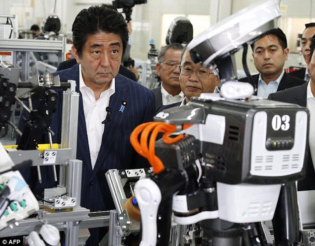 Prime ministerShinzo Abemade the comments during a tour of robotics factories in Tokyo and Saitama, during which he also announced the creation a taskforce to treble the size of the industry