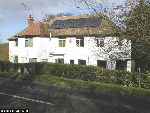 This house, built in the thirties, has a solar panel heating system across the roof (File photo)