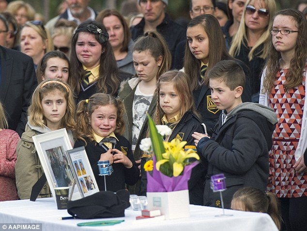 Tributes for the family poured in at a memorial service held in their hometown of Eynesbury in Victoria last week