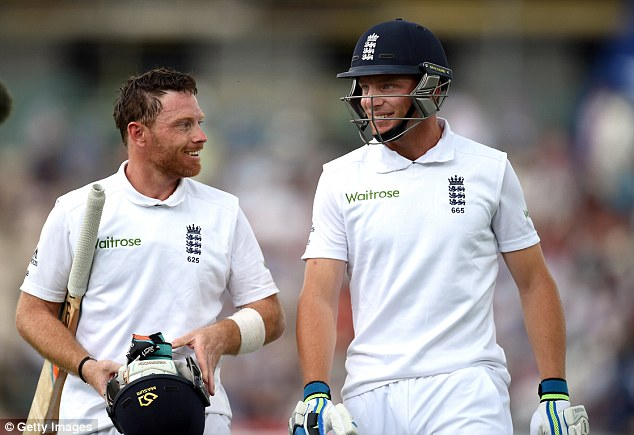 Double act: Ian Bell and debutant Jos Buttler inspired England into a commanding position