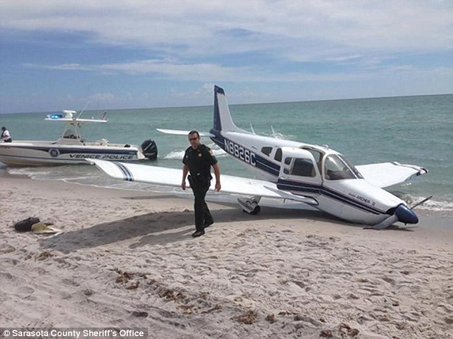 Fatal crash: The 1972 Piper Cherokee made an emergency landing on Caspersen Beach in Venice