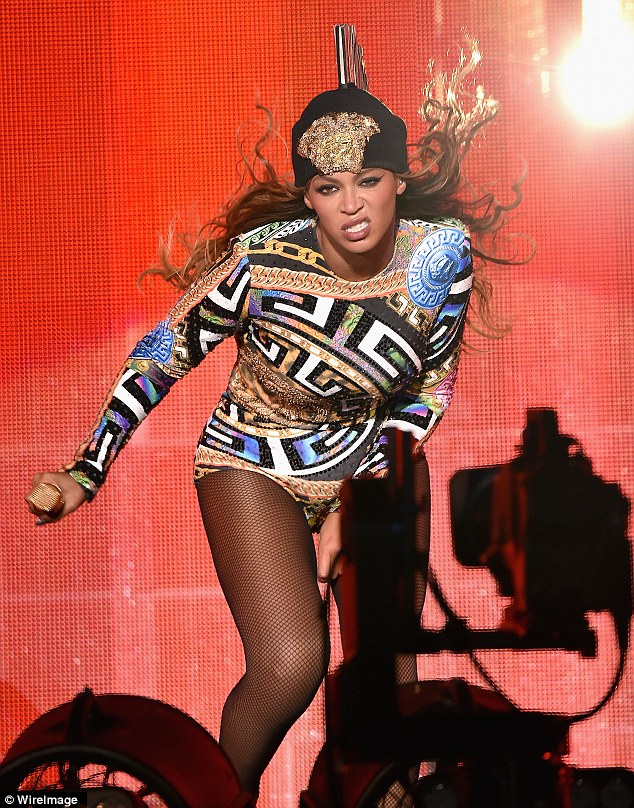 Feisty! Beyonce is currently on tour with her husband Jay Z