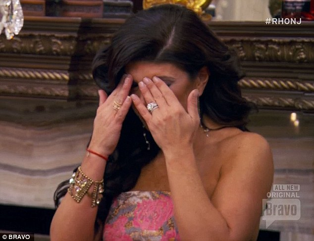 Tough time: Teresa started crying when guest Amber started crying