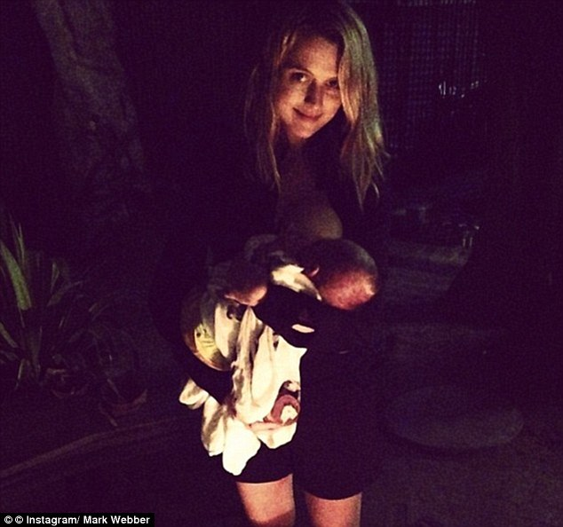 Yummy mummy: Australian actress Teresa Palmer was criticised for her avid parenting activity on Instagram