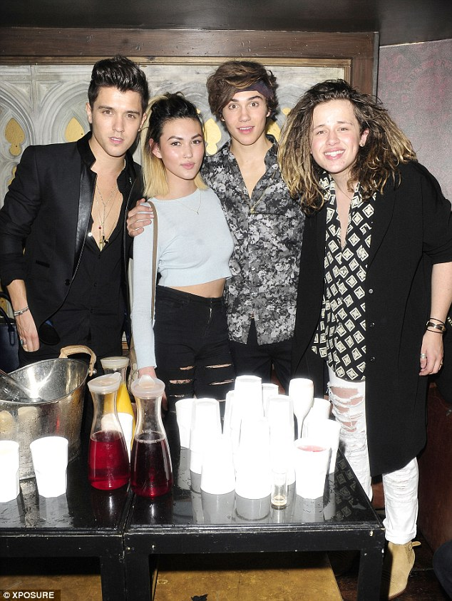 Living it up! George and his pals, including Luke Friend, enjoyed a few drinks as they celebrated his special day