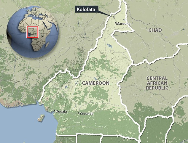 The kidnapping took place early yesterday morning in the town of Kolofata, north Cameroon