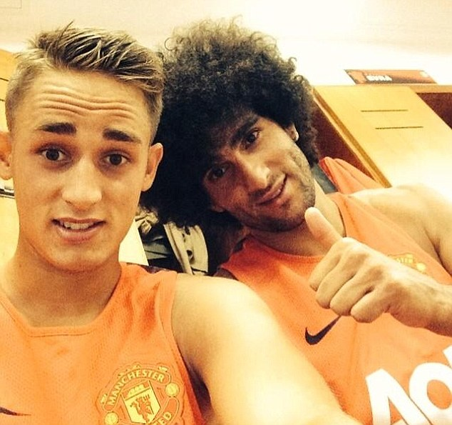 Waffle: Fellaini's omission from the US tour has caused speculation about whether the Belgian may leave
