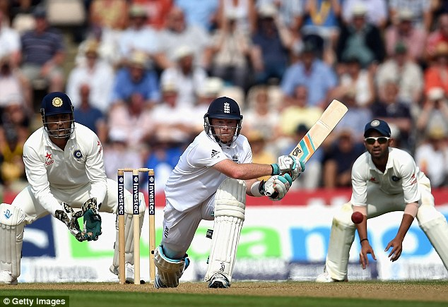 Long time coming: Ian Bell had not hit a Test century in 20 innings