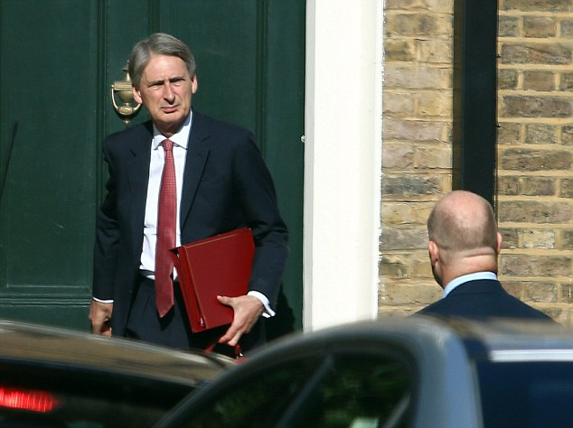 After the incident, new Foreign Secretary Philip Hammond could be seen emerging from the property