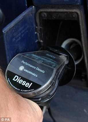 Proposal: Diesel drivers could face a charge of £10 when driving through central London from 2020