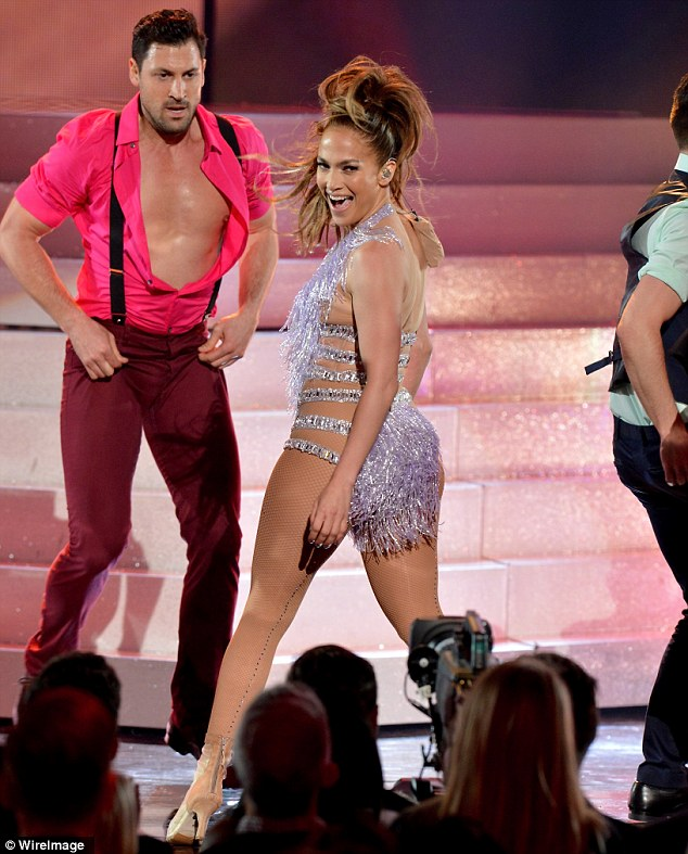 They both love to dance: J-Lo and Maksim have been rumoured to be dating since June