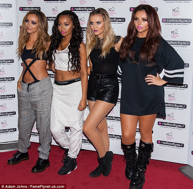 It's a girl thing: Jade is usually by her bandmates Leigh-Anne Pinnock, Perrie Edwards and Jesy Nelson